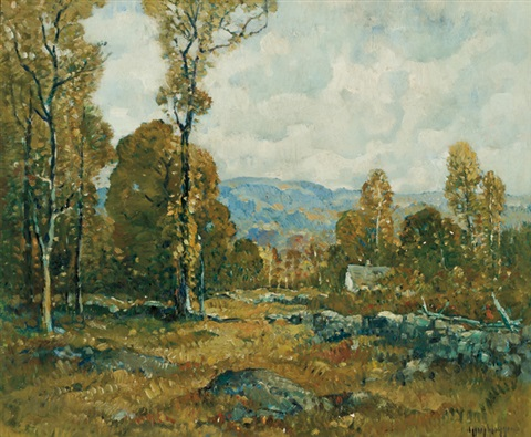 autumn landscape by guy carleton wiggins