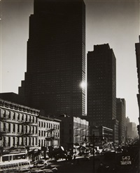sixth avenue and rockefeller center, new york by andreas feininger