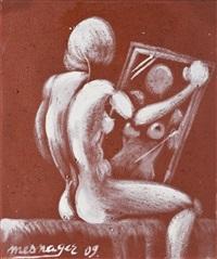 femme au miroir by jérôme mesnager