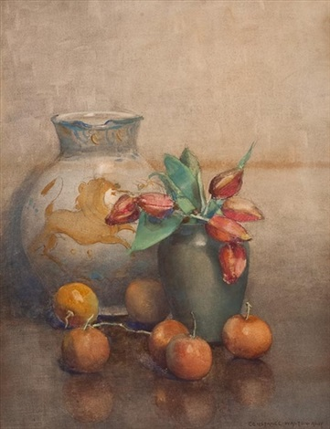 study of vase with flowers by constance walton