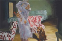 the chair, the bed, getting ready (study) by eric fischl