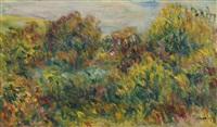 paysage aux environs des collettes, près de cagnes by pierre-auguste renoir