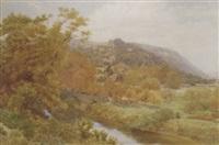 bredwardine bridge on the wye, hereford by alfred robert quinton