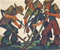 mowers by sybil andrews