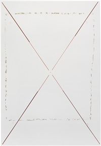 untitled (x painting on surface showing three distinct levels) by richard aldrich