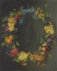 wreath of fruit by emanuel gottlieb leutze