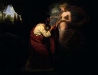 le poète et sa muse (+ offrande à athéna; pair) by louis-charles-auguste couder
