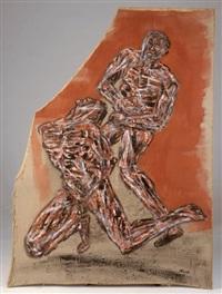 combat by leon golub