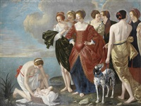 the finding of moses by orazio gentileschi