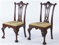 pair of chairs by thomas chippendale