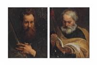 saint paul (+ saint thomas; 2 works) by sir anthony van dyck