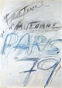 projet d'affiche pour le festival d'automne de paris by cy twombly