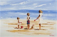 beach fun by louise mansfield