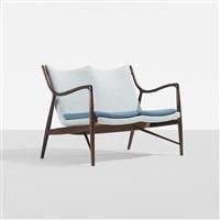 rare settee, model nv-45 by finn juhl