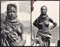 turkana bibi à isiola, july (2 joined works) by peter beard