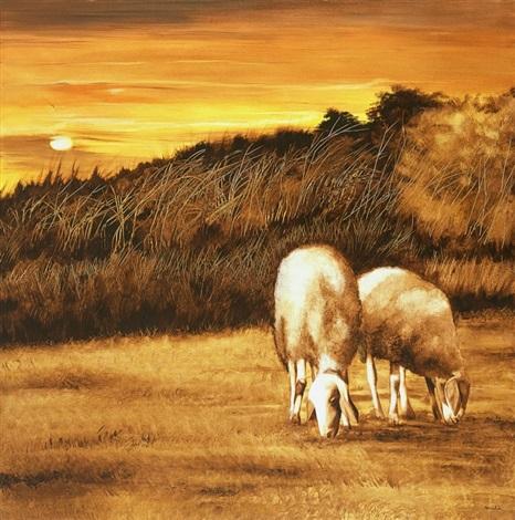 sheep pasture by amalia haas