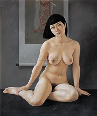 nude under painting by xue yanqun