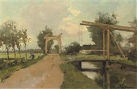 two drawbridges near kortenhoef by jacob ritsema