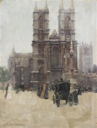westminster abbey by paul cornoyer