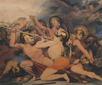 ancient greek battle scene by james barry