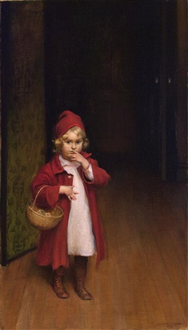 playing red riding hood by charles courtney curran