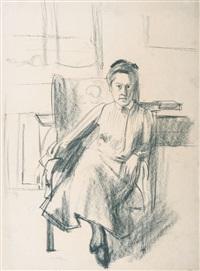 seated woman by franz nölken