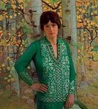 portrait of helen (with sketch and necklace) by ernest martin hennings