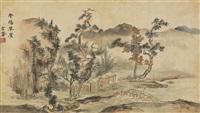 landscape (남양초려 南陽草廬) by sim sa-jong