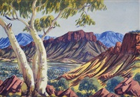 landscape by albert namatjira