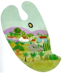 paisagem by tarsila do amaral