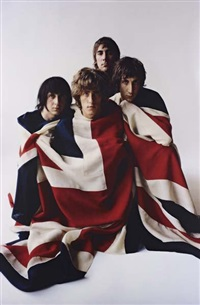 the who with flag, carnegie hall studio by art kane