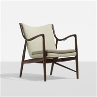 rare lounge chair, model nv-45 by finn juhl