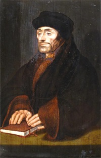 portrait of desiderius erasmus (1466-1536) by hans holbein the younger