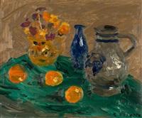 blue bottle & gray jug by william goodridge roberts