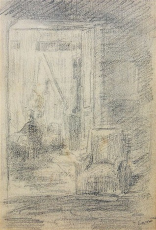 vue dintérieur by james ensor