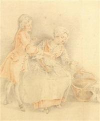 la lingère et le jeune gentilhomme by jacques-andré portail