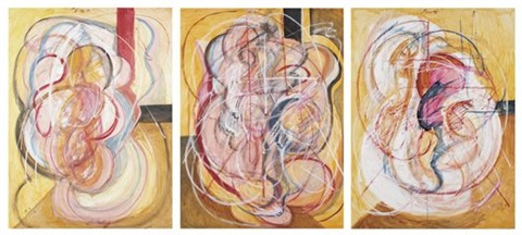 homage to francis bacon (triptych) by nasser azam