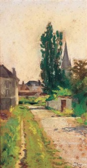 chemin de village en bretagne by louis georges eléonor roy