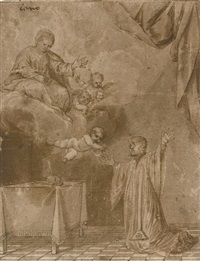 the christ child appearing to saint simon stock by alonso cano