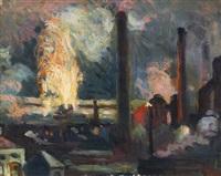 usines, la nuit by maximilien luce