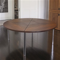 dining table by preben fabricius and jørgen kastholm