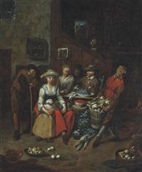 a kitchen interior by jan baptist lambrechts