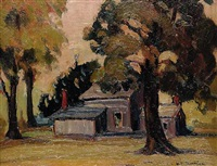 untitled - house in the trees by mildred valley thornton