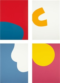 untitled: four prints (4 works) by leon polk smith