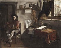 an artist in his studio by jacobus vrel