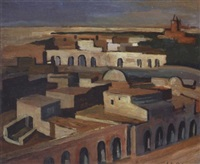 la grande place, touggourt by georges le poitevin