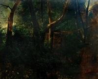 waldstück mit hütte by johann rudolf koller
