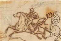 studie zweier reiter by théodore géricault