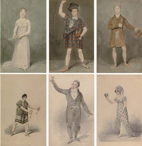 miss s booth as amanthis in the child of nature 5 others 6 works some smaller by samuel de wilde