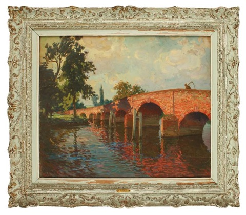 le pont de sonning sur la tamise by william samuel horton